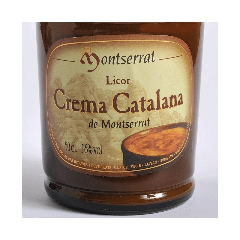 Liquor Crema Catalana of Montserrat