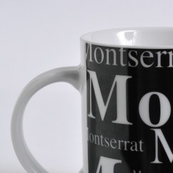Montserrat cup black background