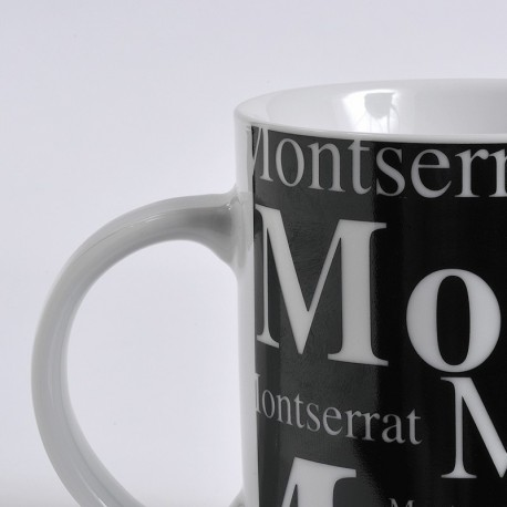 Taza Montserrat fondo negro