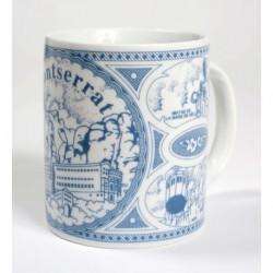 Taza de cerámica azul