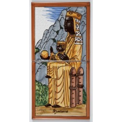 Baldosa de la Virgen de Montserrat