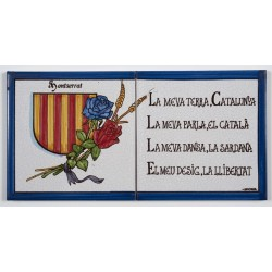 Tile Catalonia's coat of arms with poem